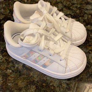 Adidas shell toe toddler sneakers 7